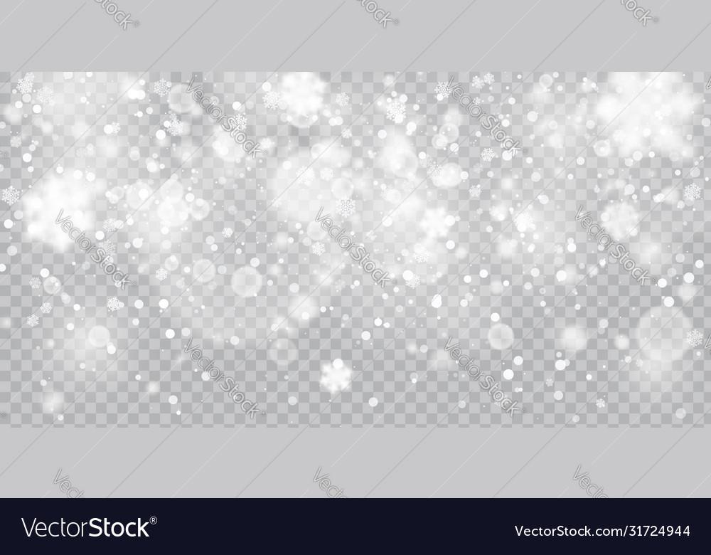 Christmas snowfall falling