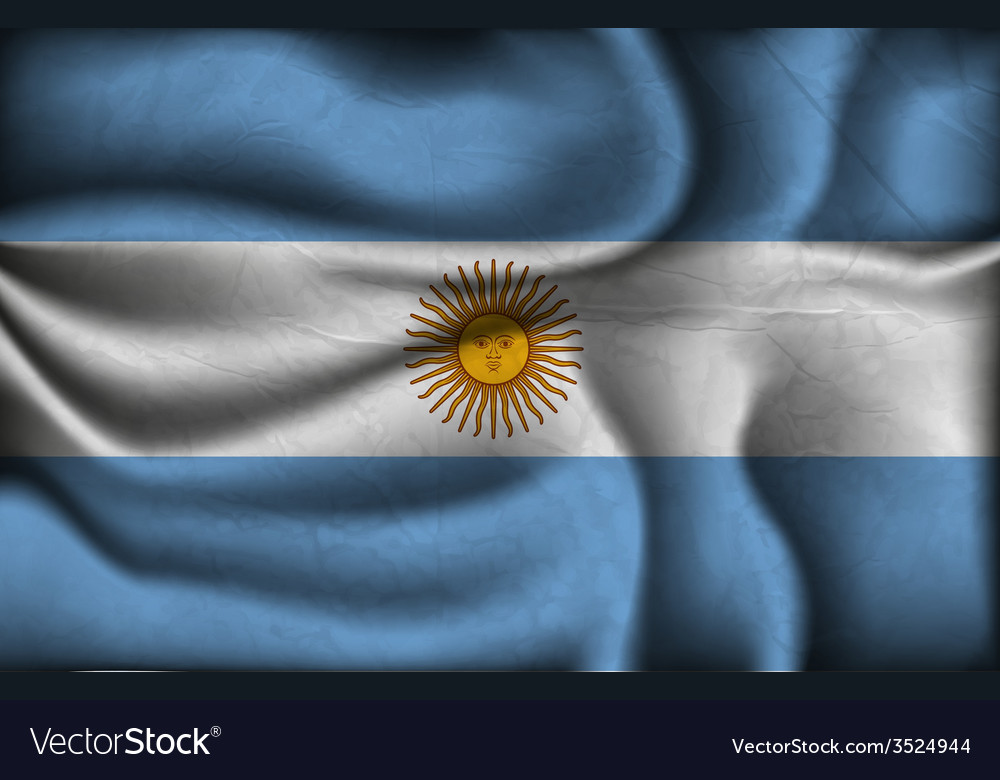 Crumpled flag of Argentina vector image