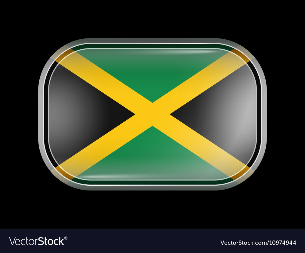 Flag of Jamaica Rectangular Shape