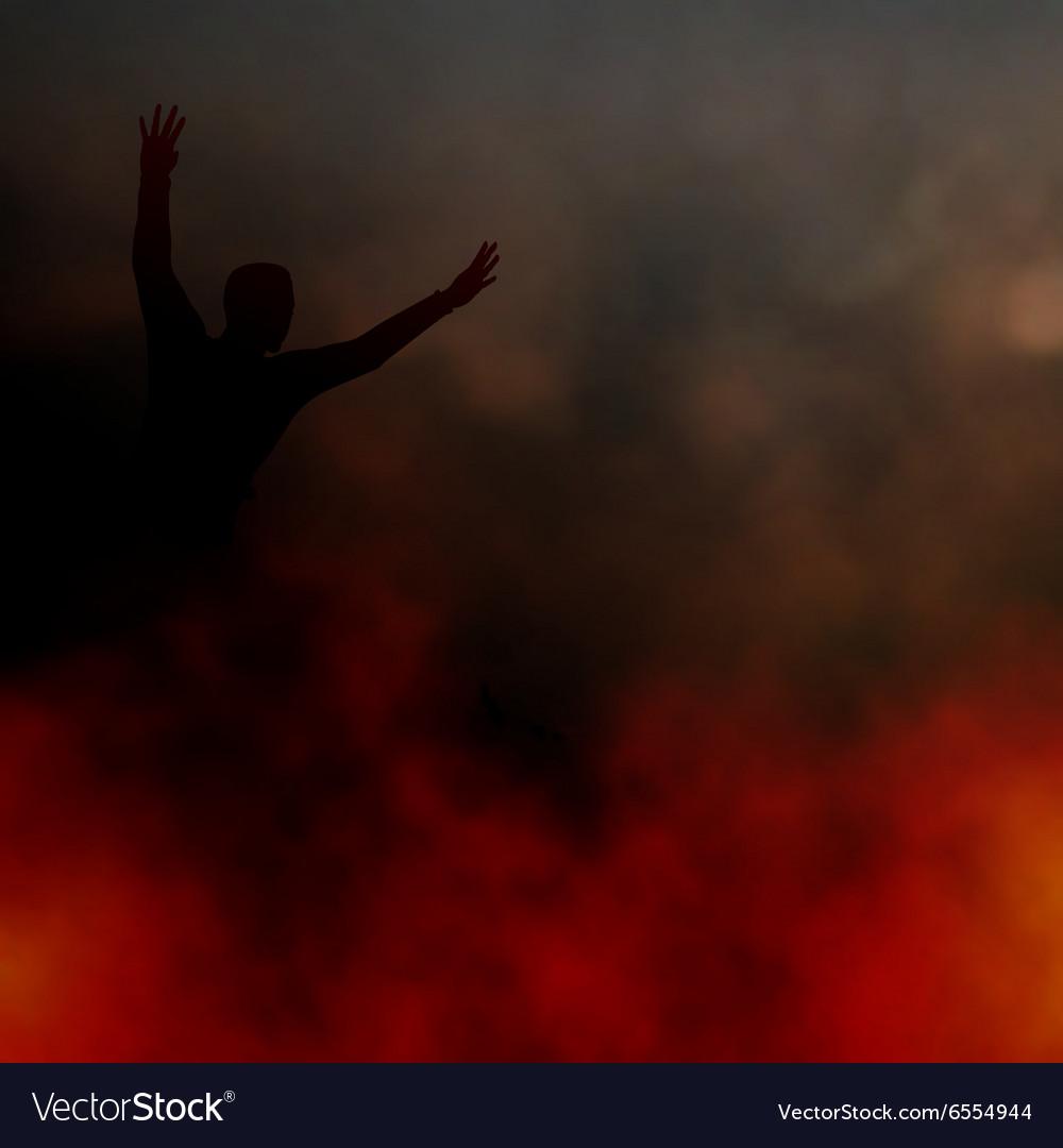 Fleeing the fire