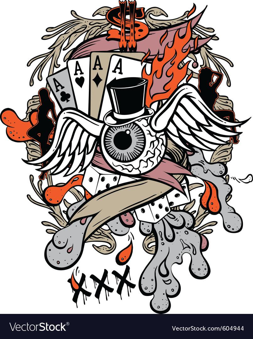 Gambler tattoo