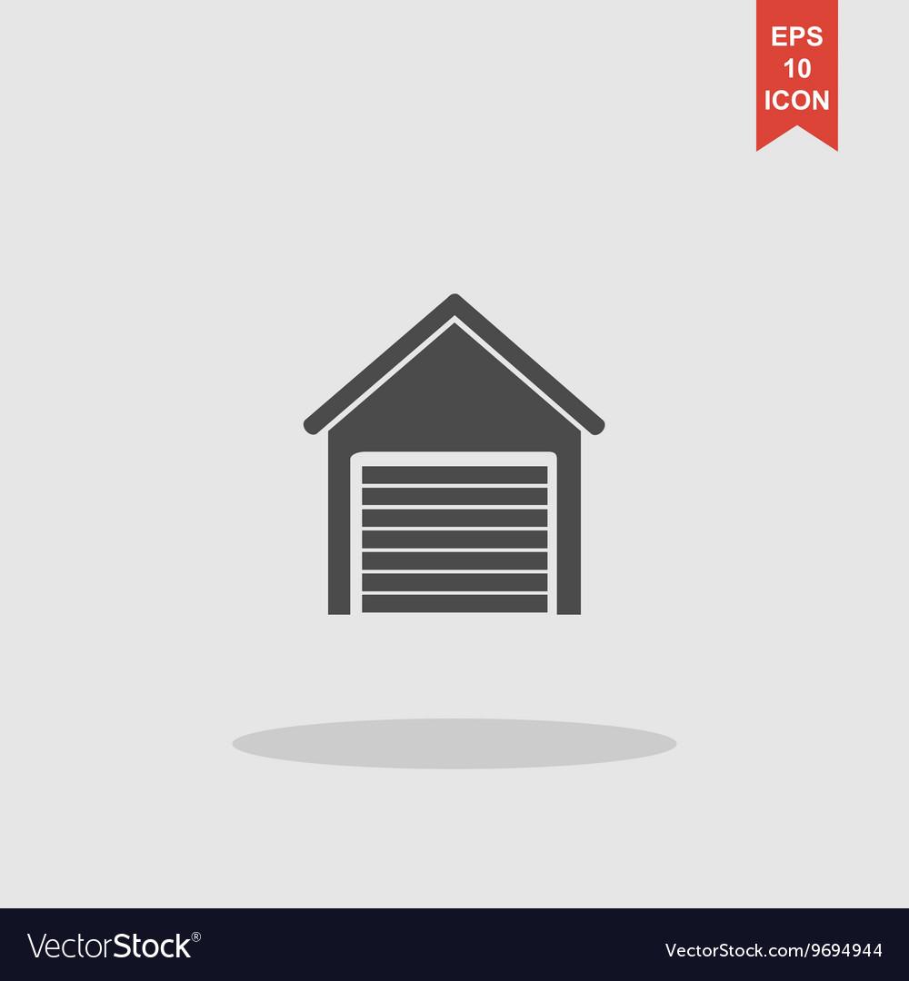 Garage icon Modern design flat style vector image