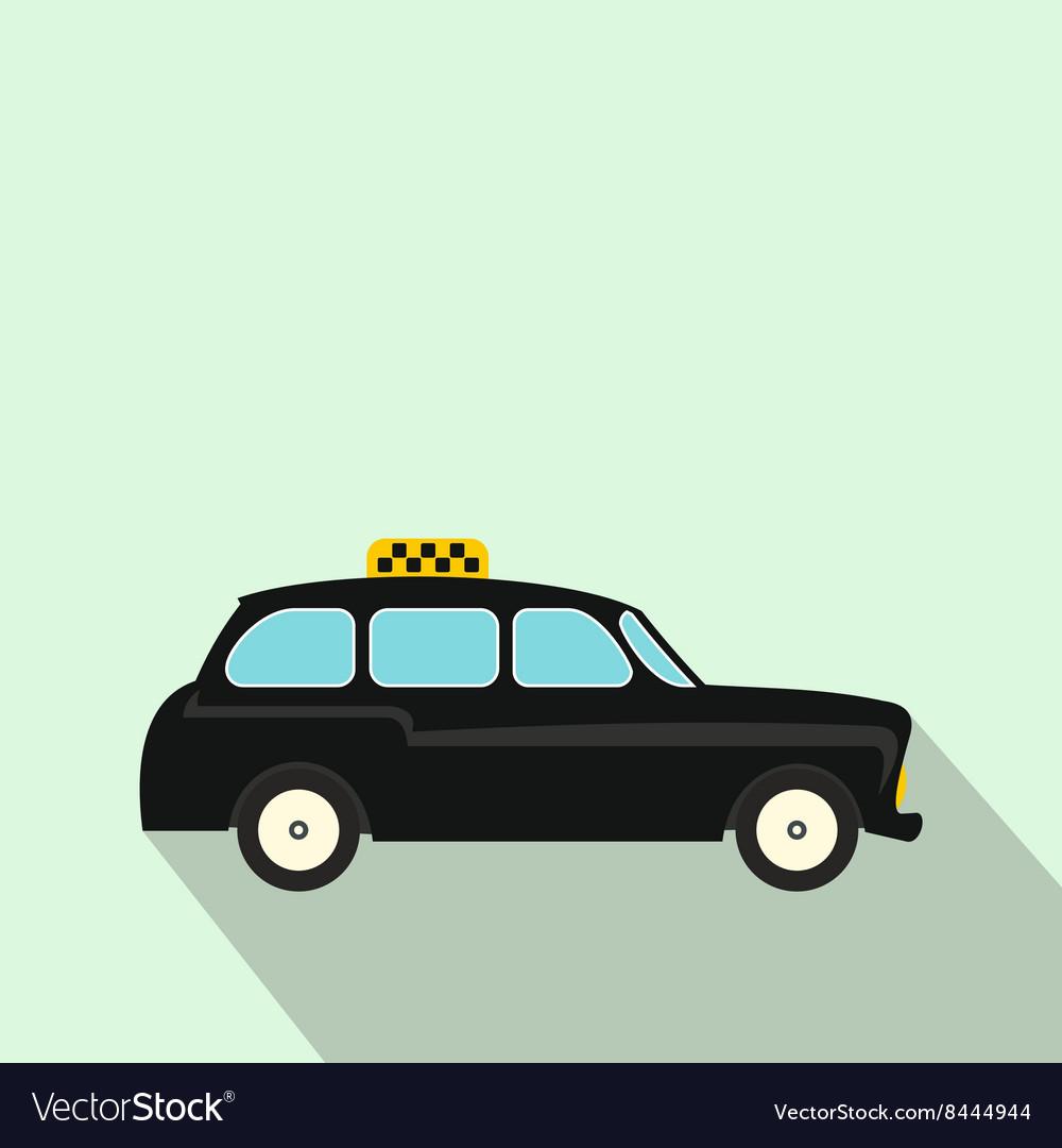 London black cab icon flat style