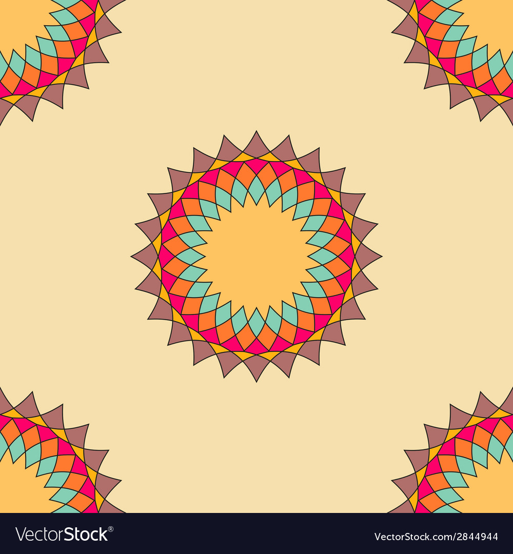 Round ornament seamless pattern spirograph