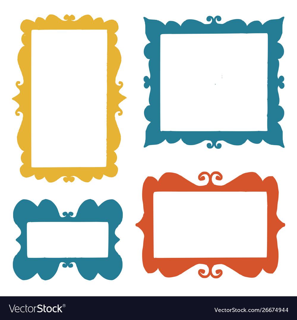 Set hand drawn frames