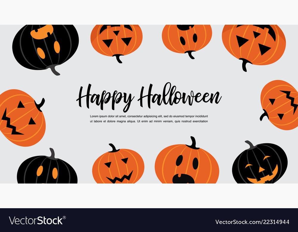 Website spooky header or banner with halloween
