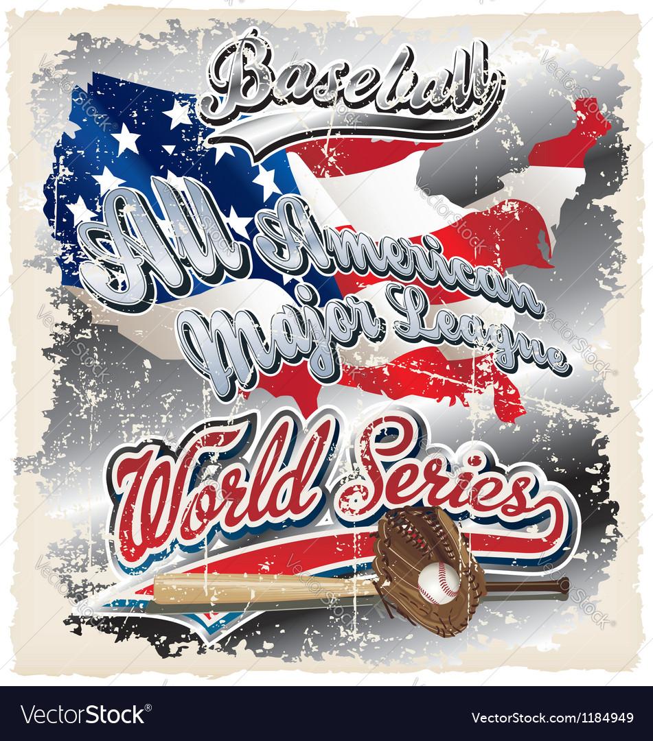 American league crack vector image