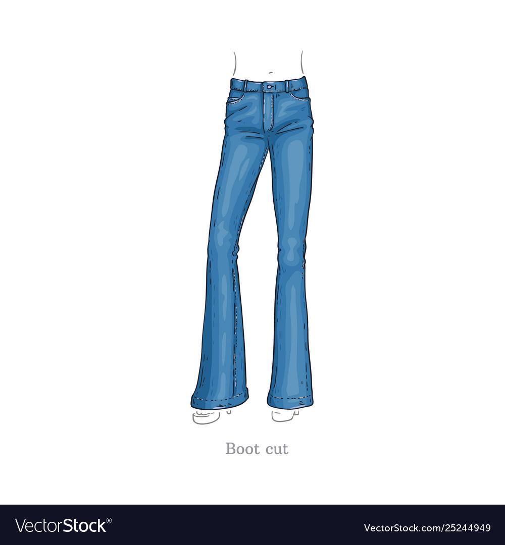 Boot cut style jeans female denim pants