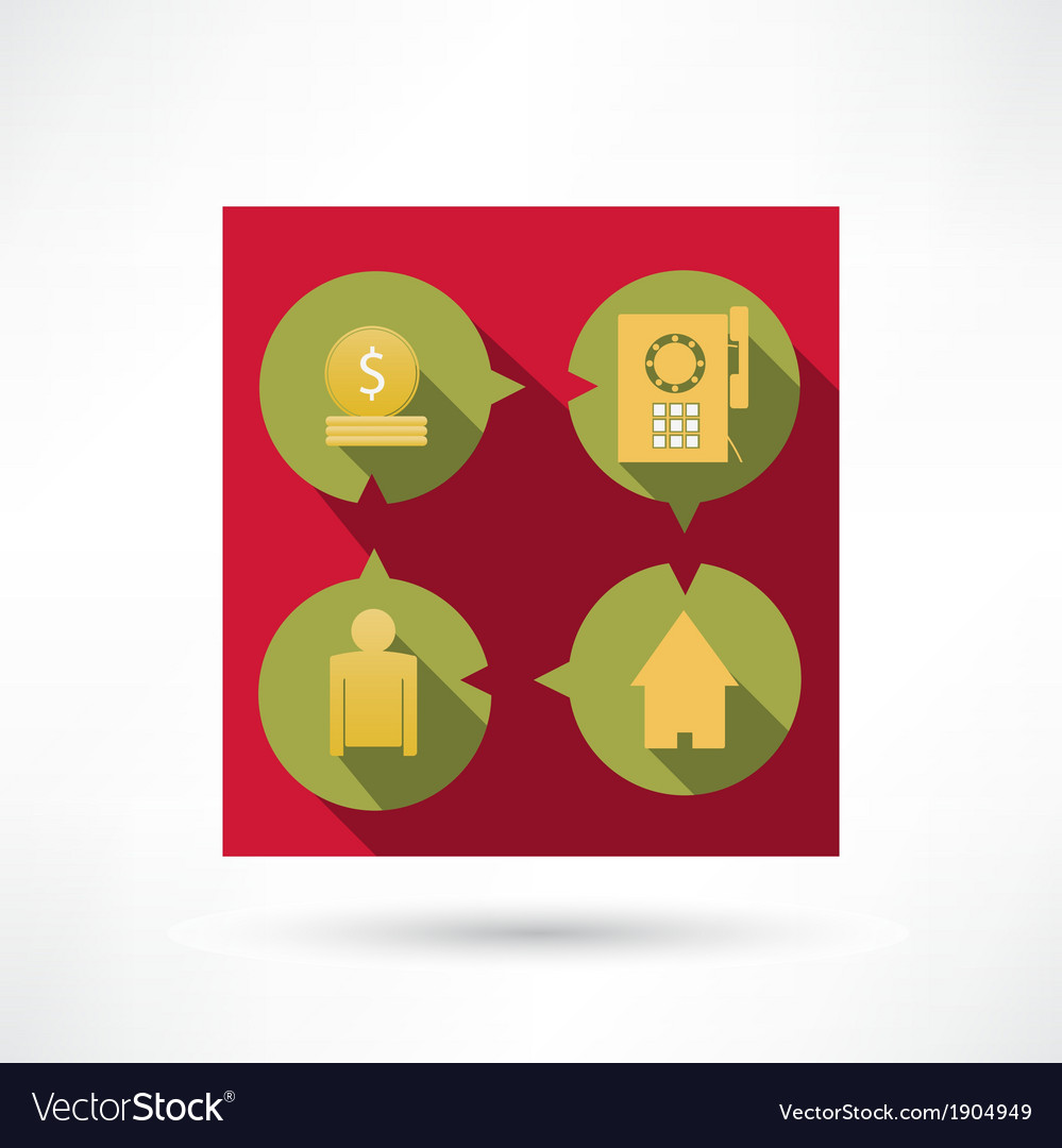Financial icons vector image
