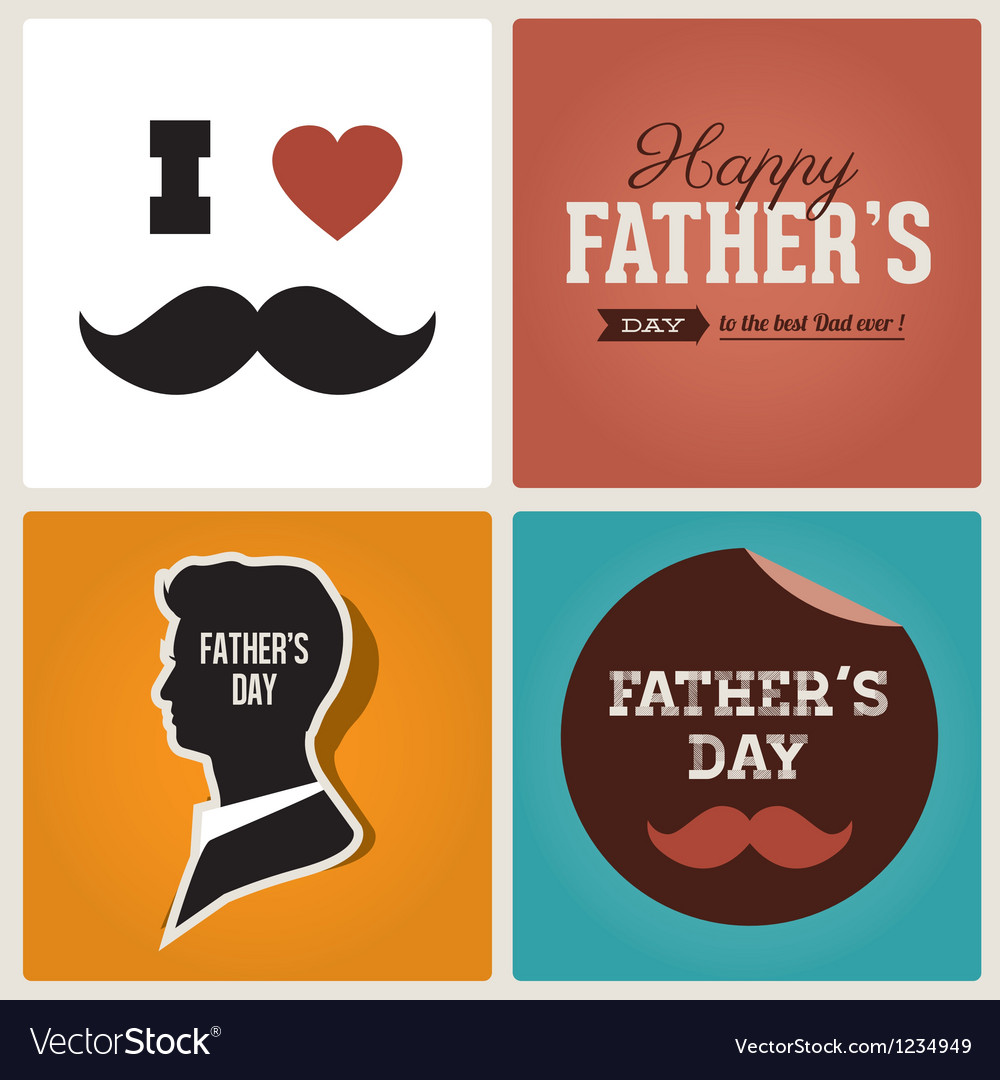 Happy Fathers Day Cards Royalty Free Vector Image