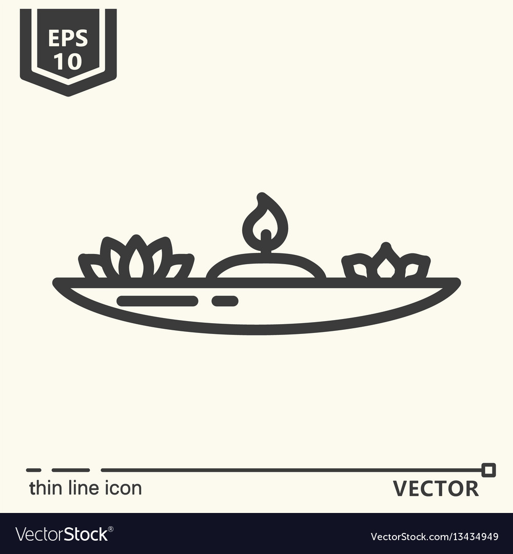 One icon - candlestick for meditation