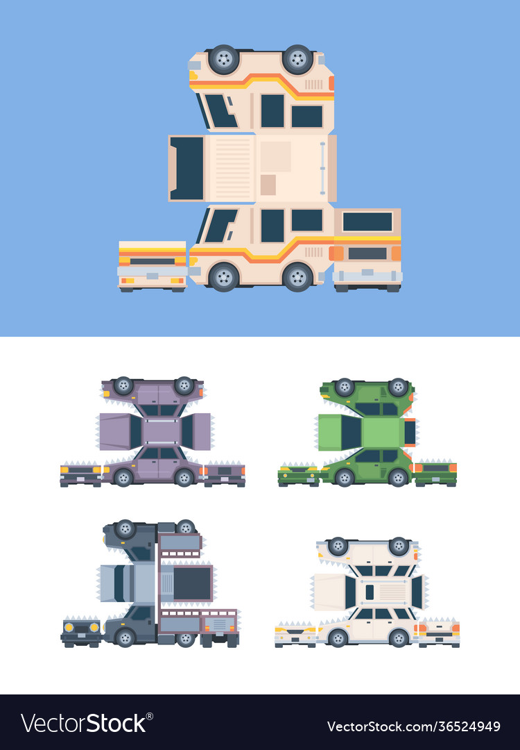 Paper craft car vehicles template from glue