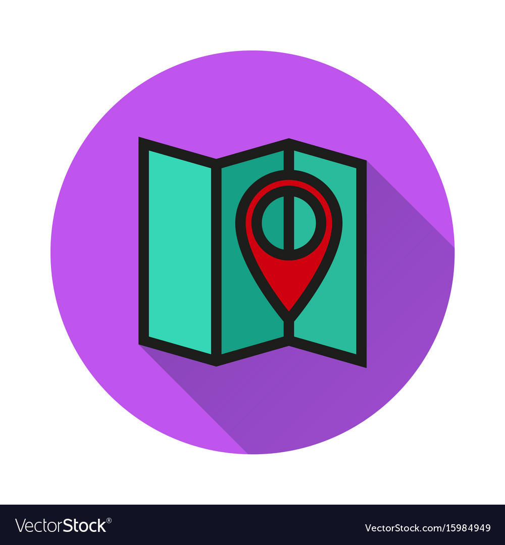 Pin on the map icon on white background