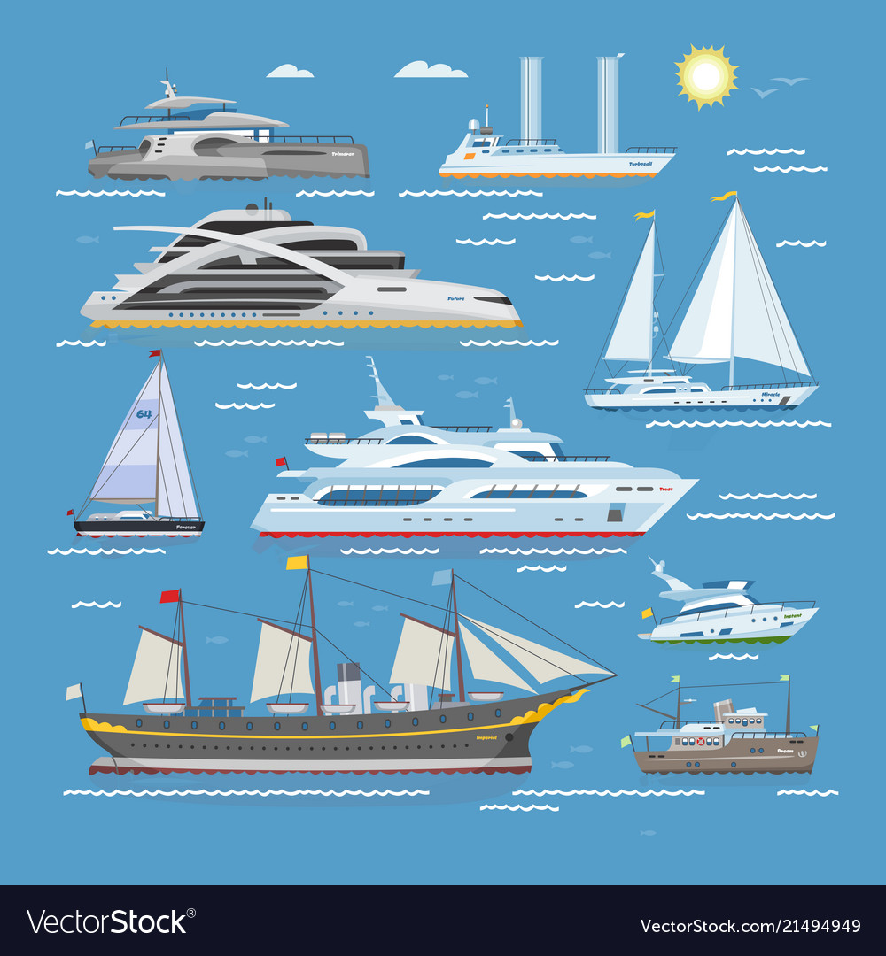 Ships boats or cruise travelling in ocean