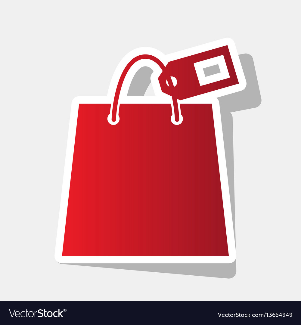 Shopping bag sign with tag new year
