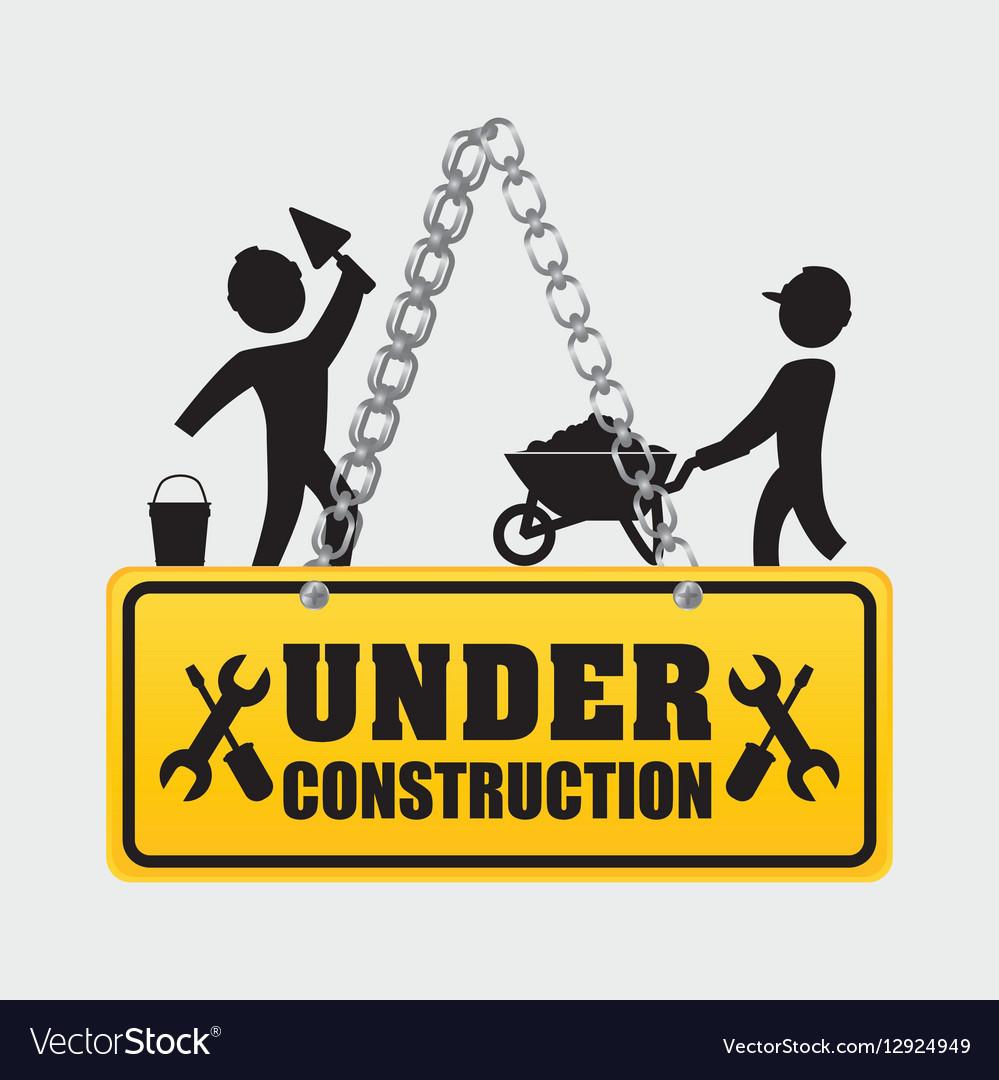Under construction men workers walking helmet