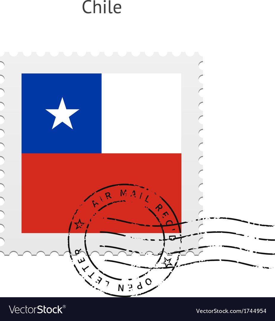 Chile Flag Postage Stamp Vector Image