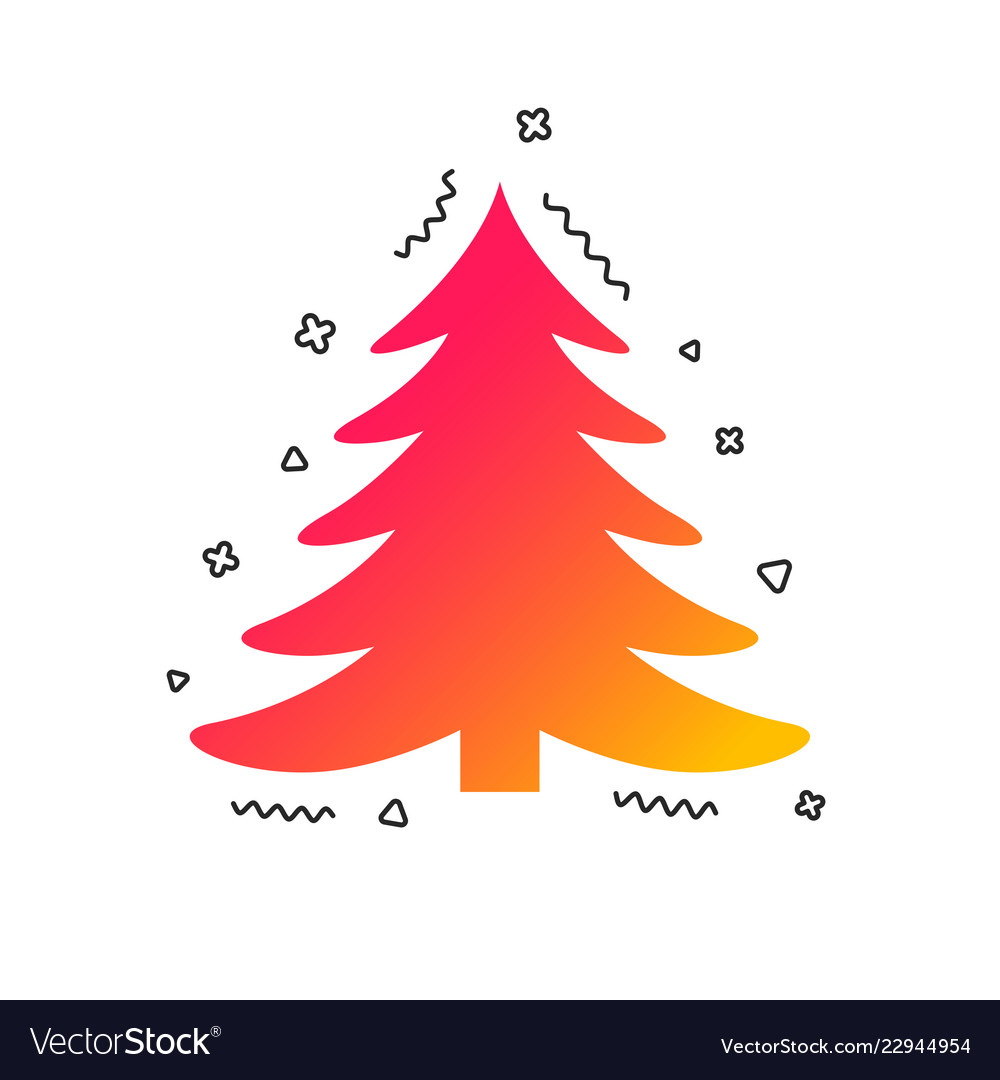 Christmas Holidays Icon.Christmas Tree Sign Icon Holidays Button Vector Image On Vectorstock