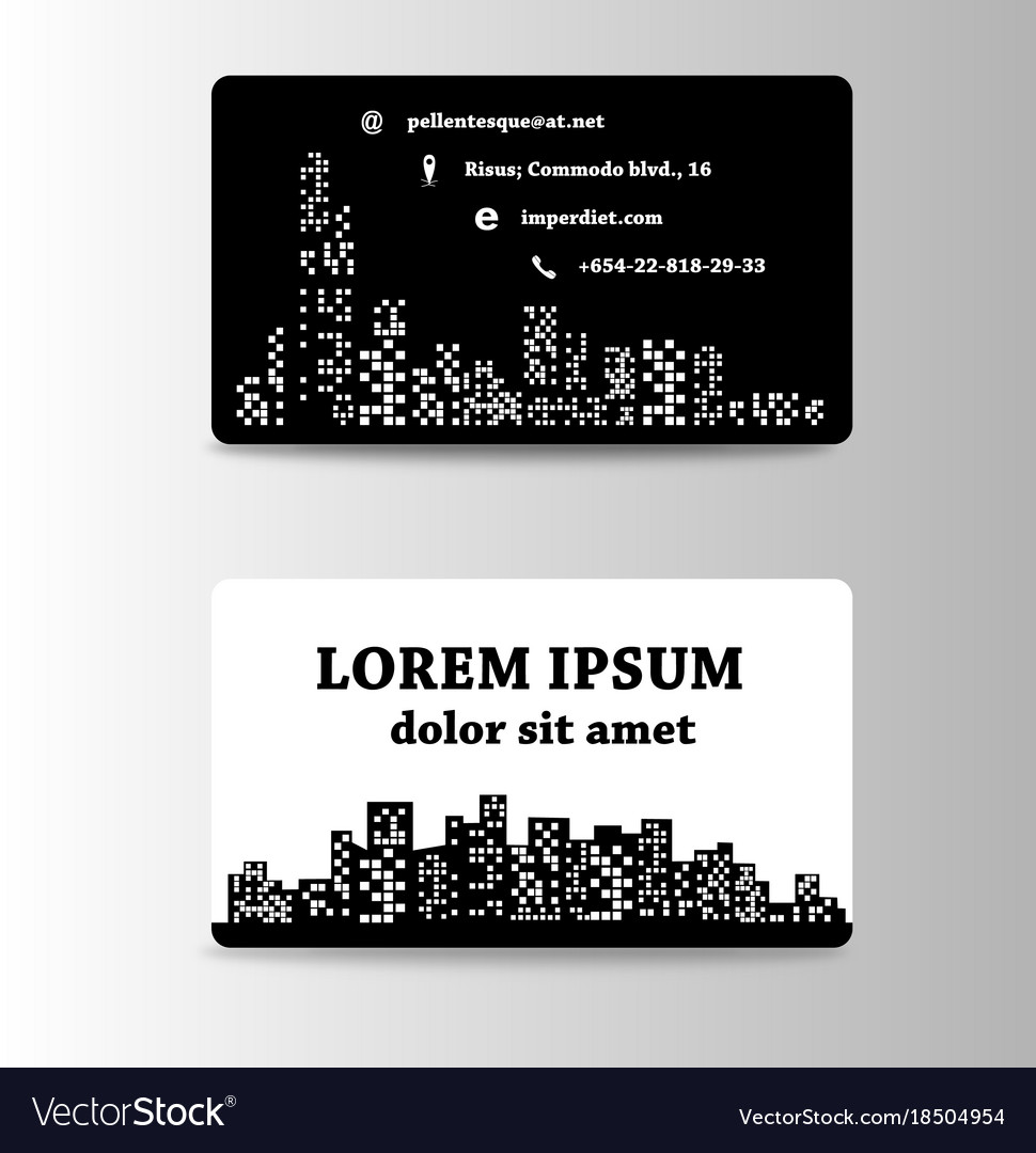 Detailed business cards for cafe and restaurant
