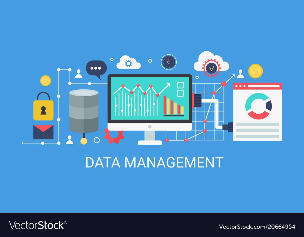 Flat modern concept data management banner
