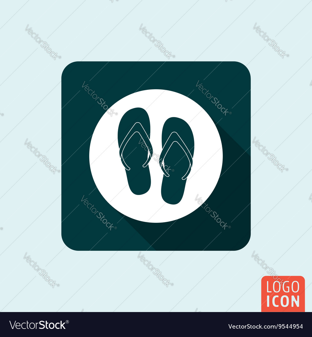 32405e698 Flip Flop icon isolated Royalty Free Vector Image