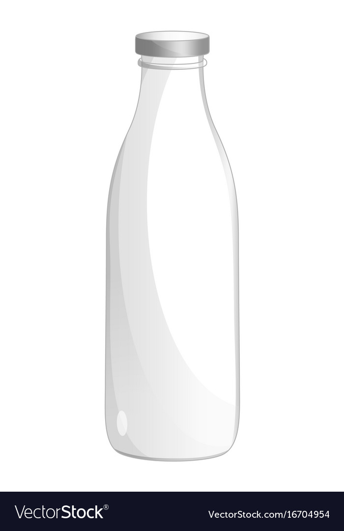 Milk glass bottle isolated icon vector image