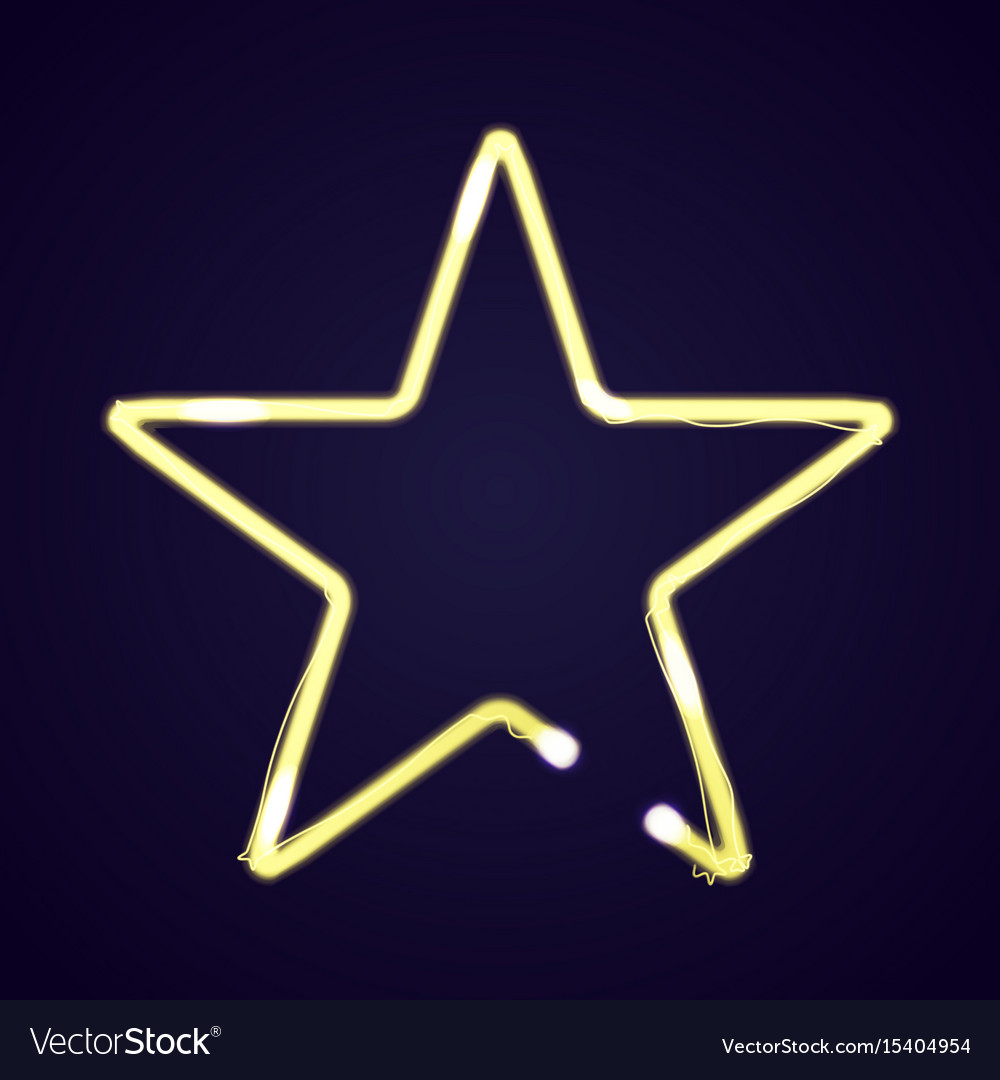 Neon star light