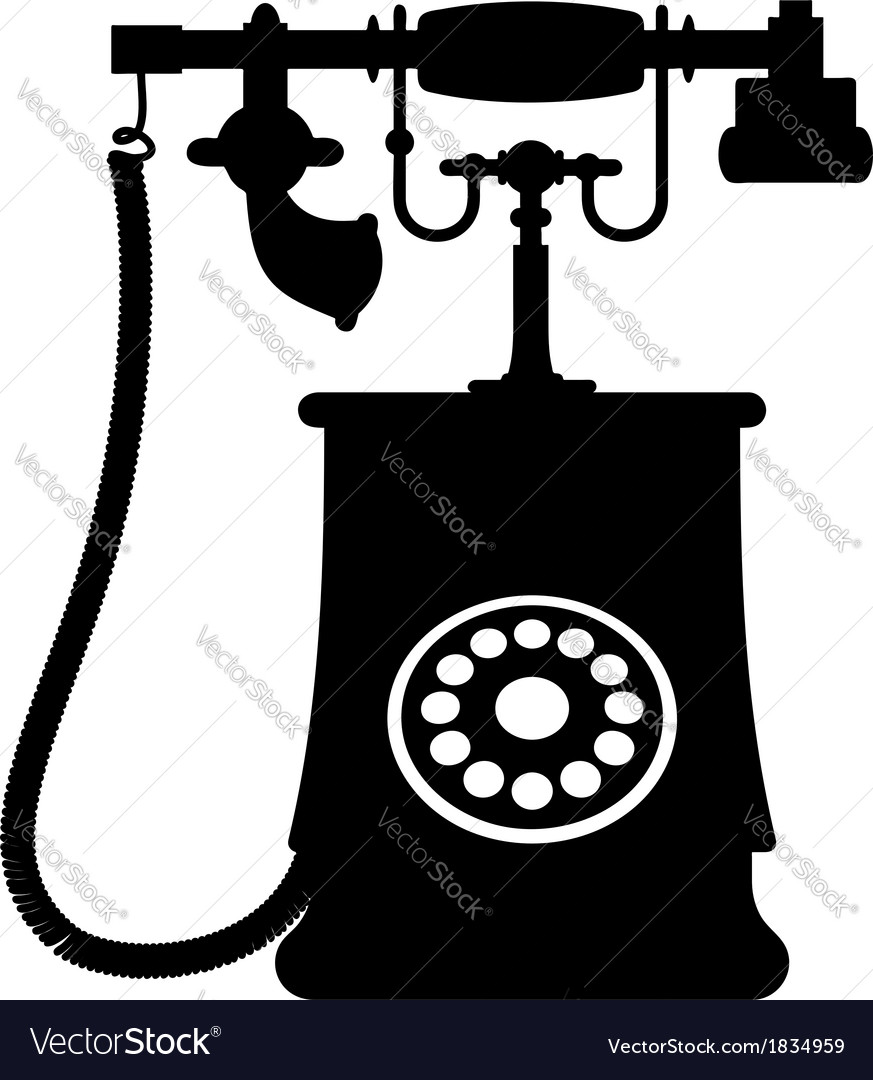 A vintage rotary dial telephone