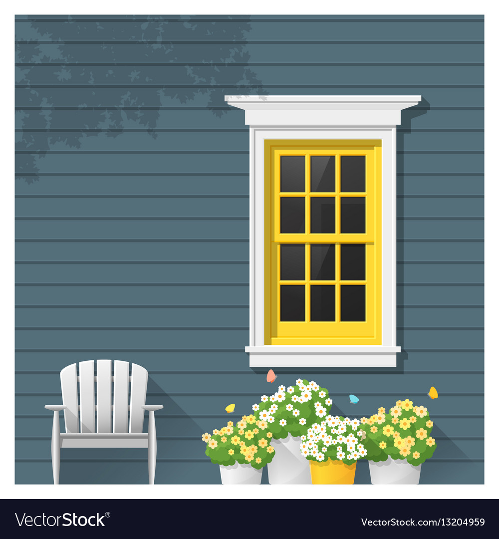 Architectural element window background 1 vector image