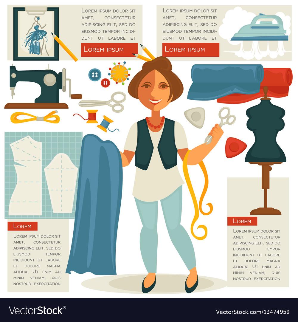Atelier tailor or dressmaker designer profession