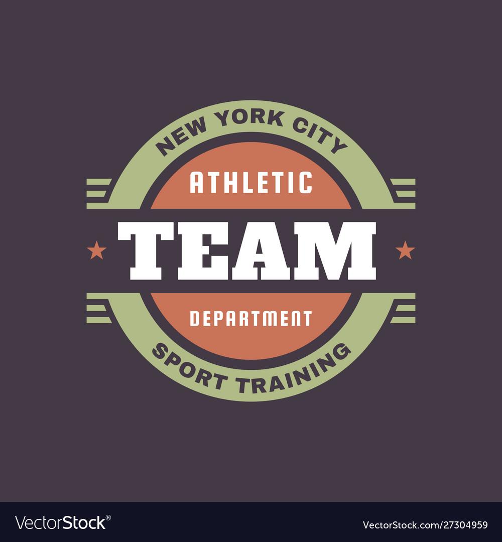 Athletic team department - typography vintage logo