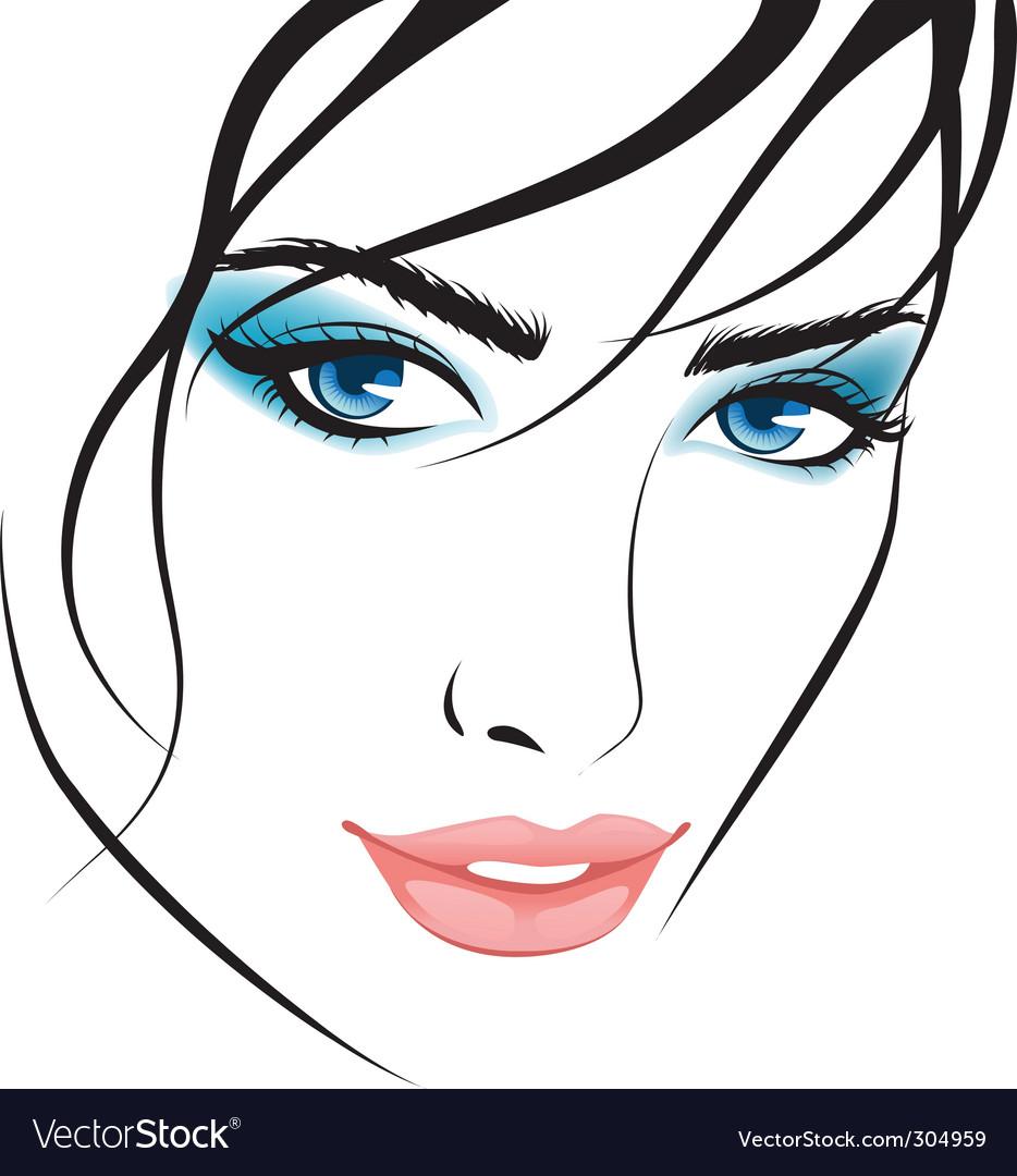 Beauty girl face design elements