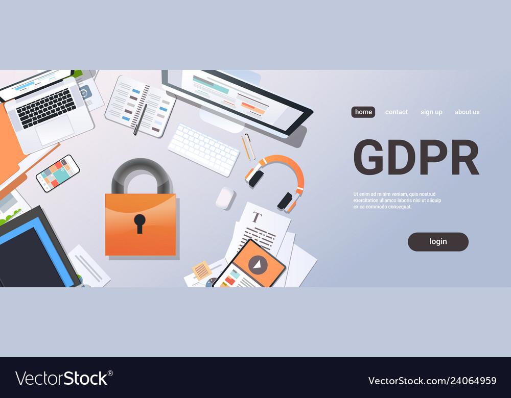 General data protection regulation gdpr concept