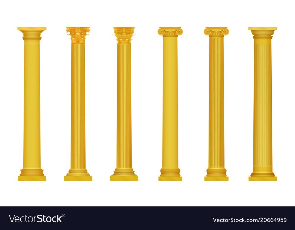 Golden realistic high vector image