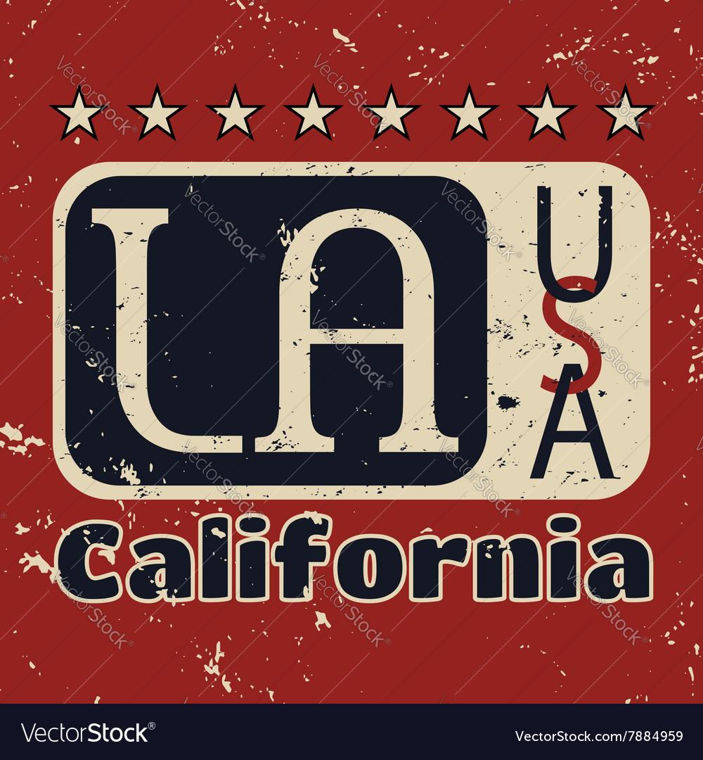 Los Angeles city Typography Graphic Grunge 1