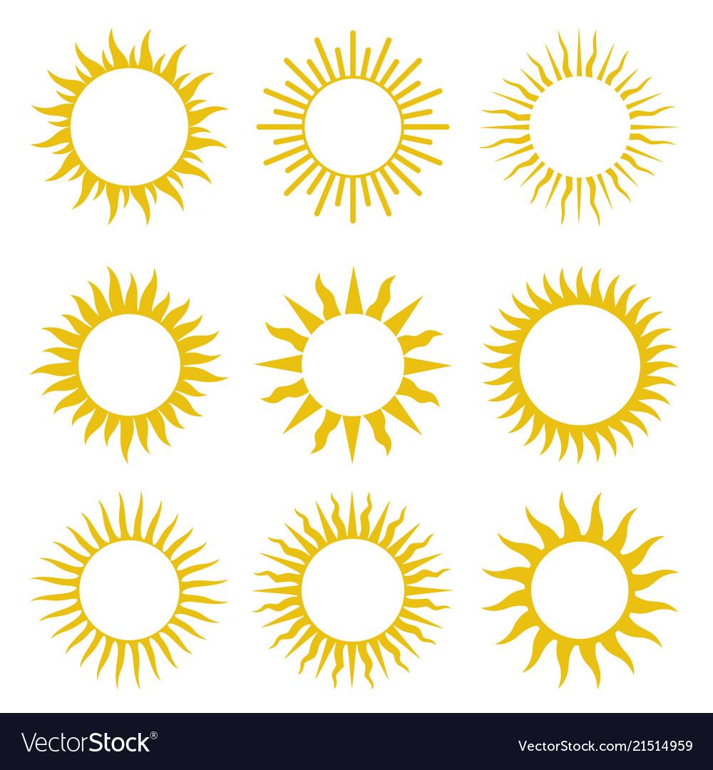 Rays beams element sunburst starburst set