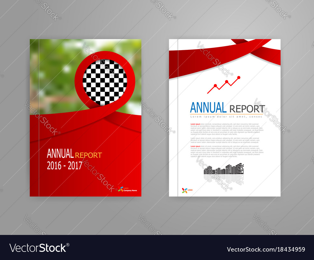 Red ribbon annual report cover
