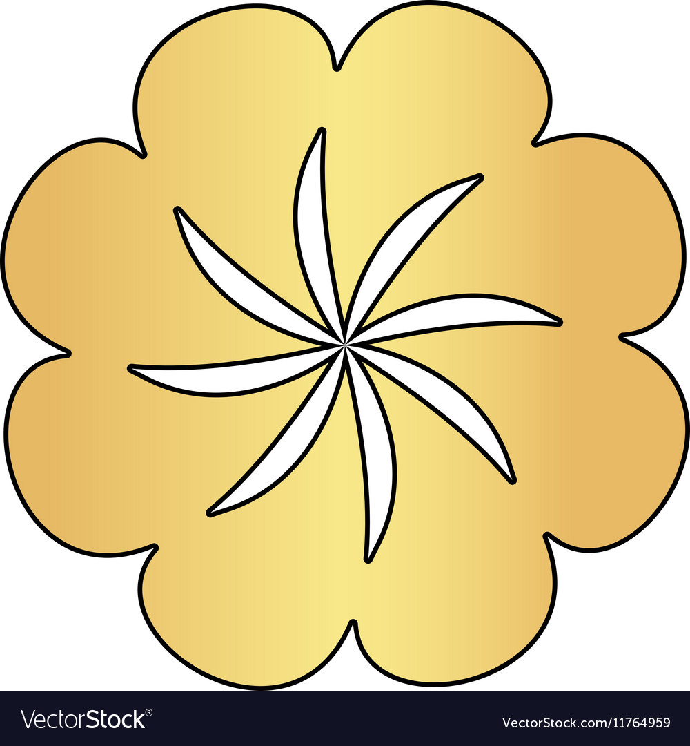 Swirl flower computer symbol