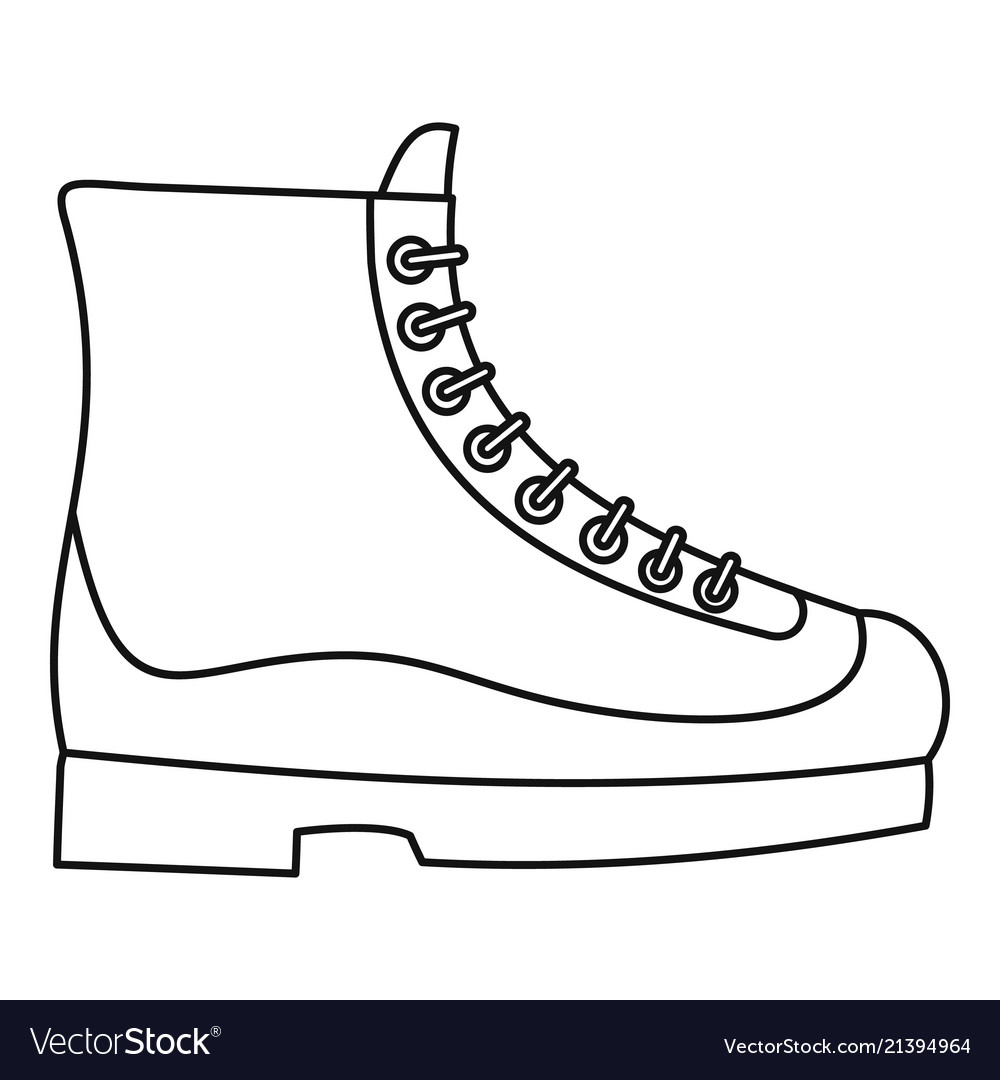 Boots icon outline style