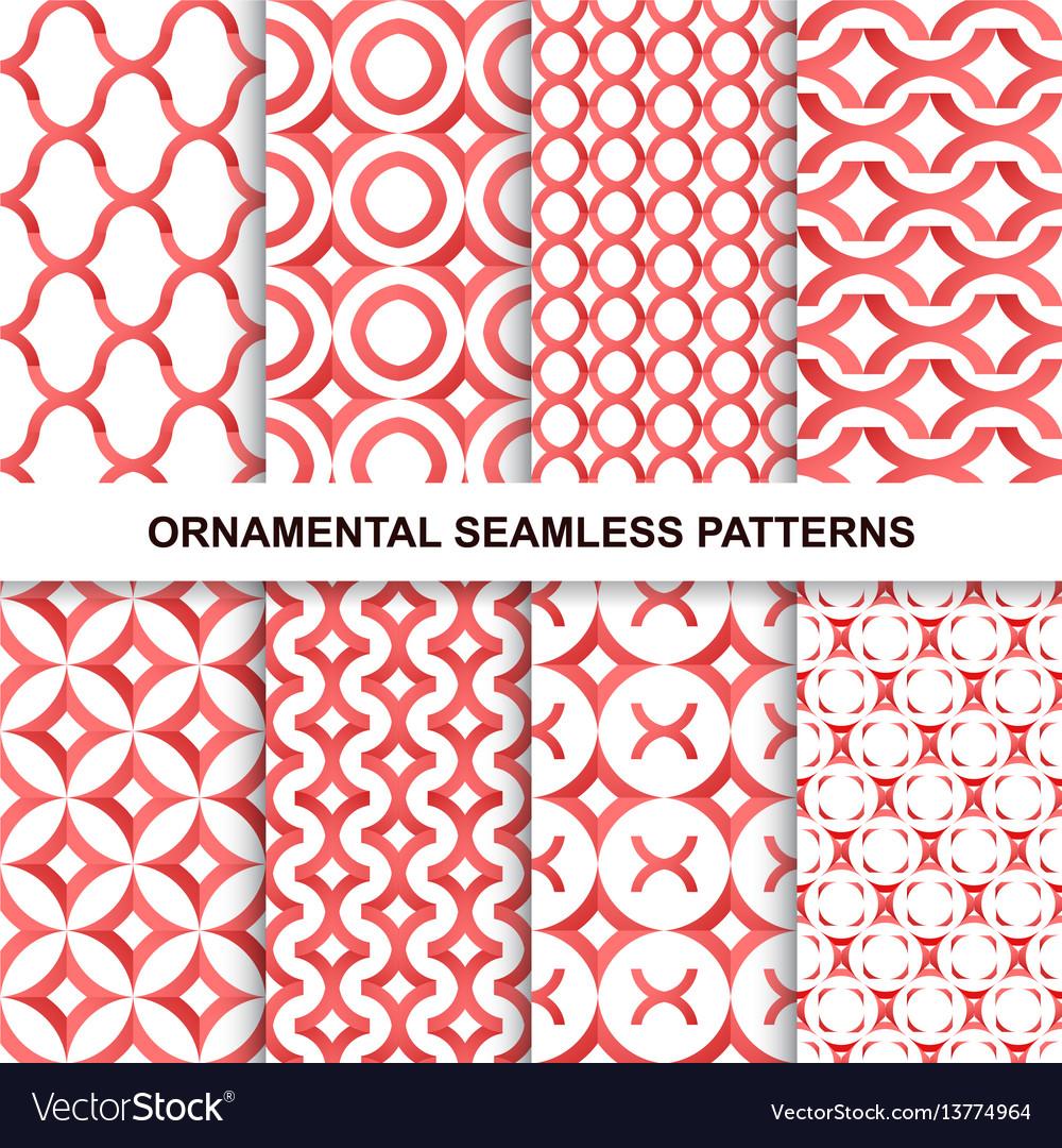 Fashoinable ornamental patterns - seamless