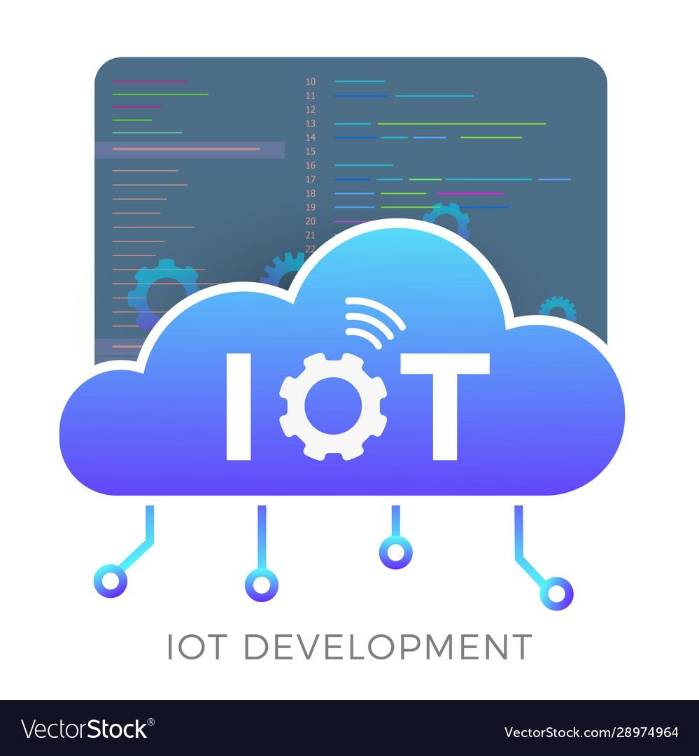 Iot development icon concept smart cloud