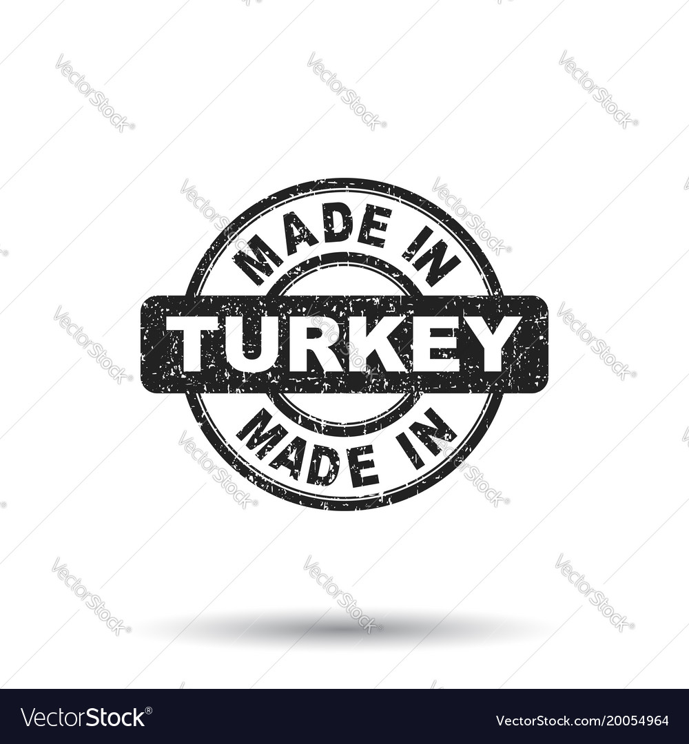 Made in turkey stamp on white background vector image