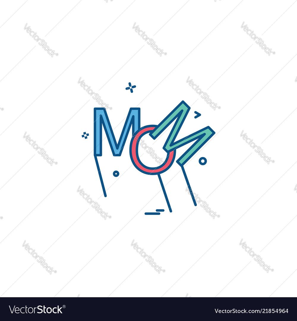 Mom icon design