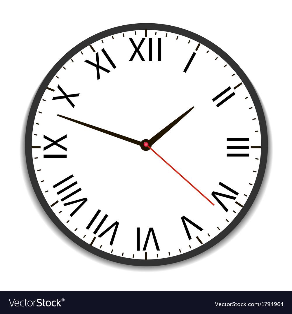 Old vintage clock vector image