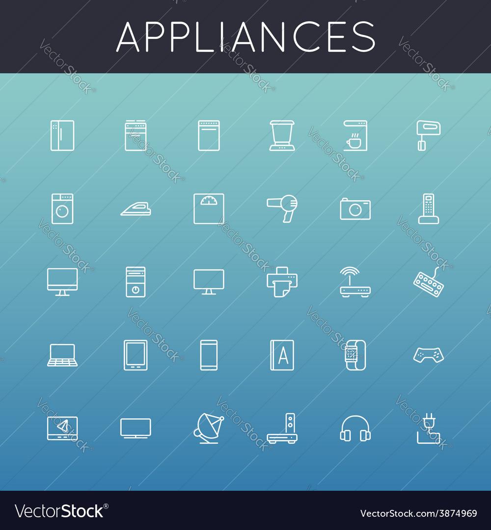 Appliances Line Icons