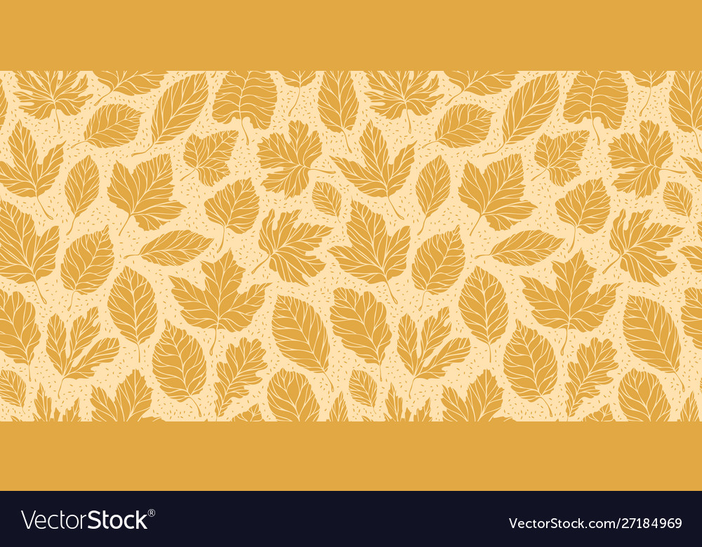 Autumn leaves seamless background leaf fall