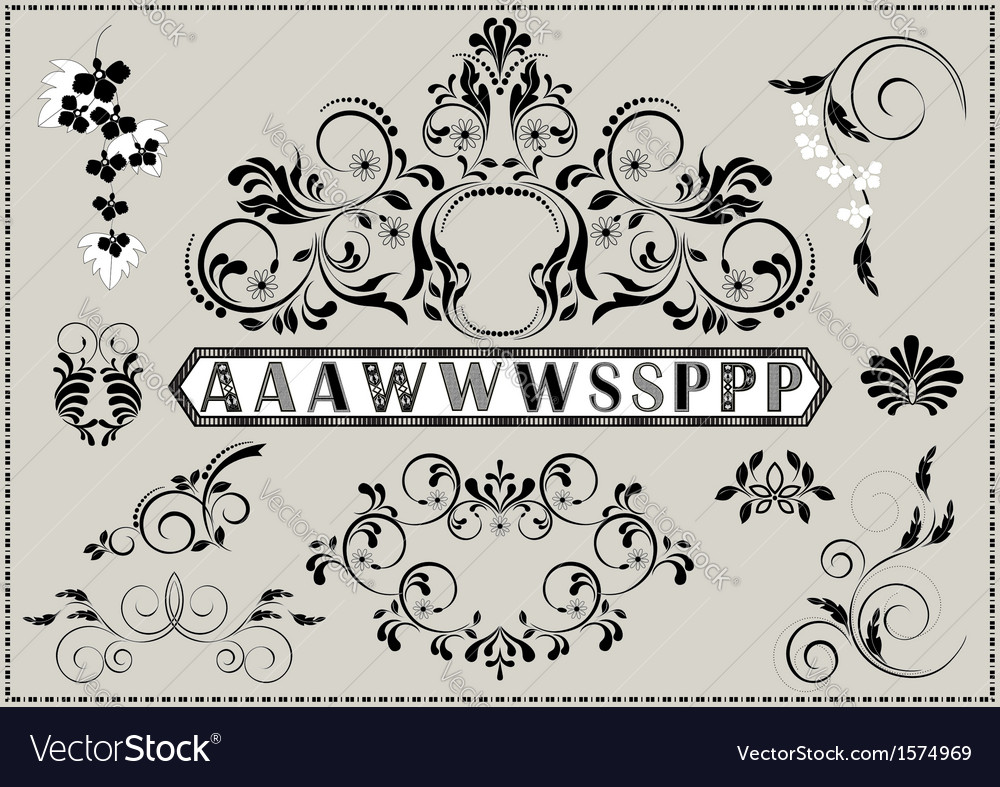 Collection of calligraphy patterns
