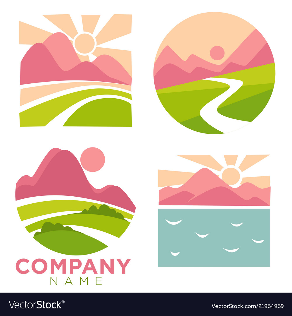 Company nature and landscapes high mountains se