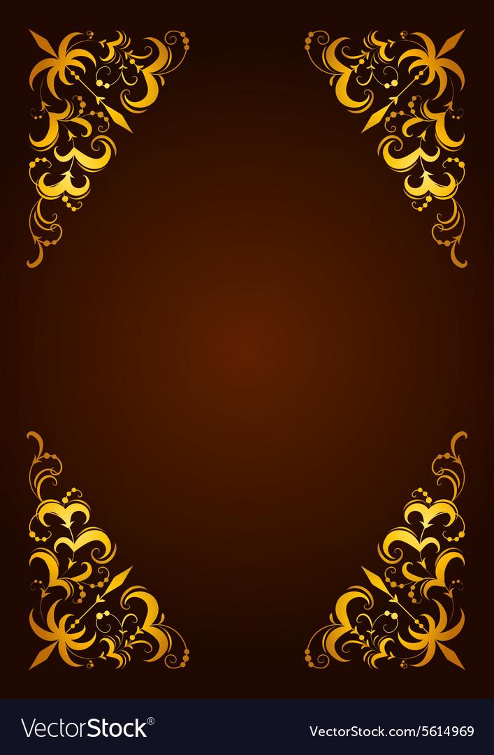 Elegant decorative hand drawn template frame