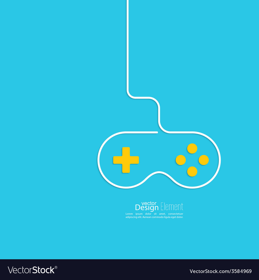 Game background wire and joystick Royalty Free Vector Image